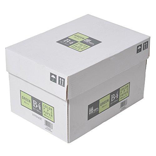 エイピーピー ジャパン カラーコピー用紙 B4 2500枚 500枚×5冊 グリーン