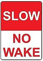 ノベルティサインギフト、スローノーウェイク、壁サインメタルプラークポスター鉄絵警告サインアート装飾用バーホテルオフィスカフェテリア