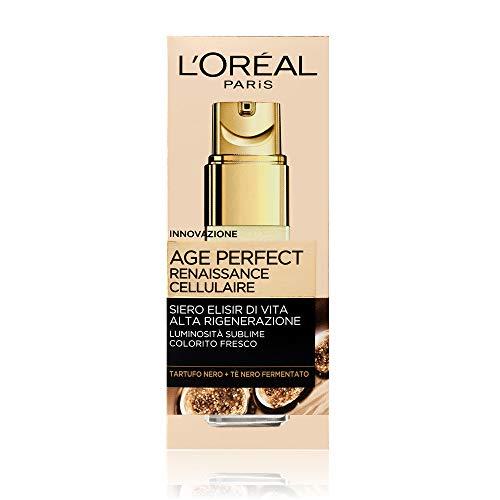 L Oréal Paris Age Perfect Renaissance Cellulaire Siero Antirughe Illuminante Viso, Pelli Mature, 30 ml