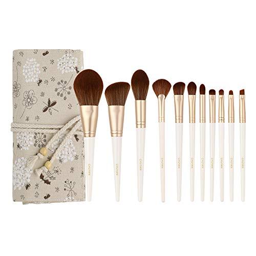 LXC Set de 11 pinceaux de Maquillage - Outil applicateur cosmétique Professionnel, Poils à séchage Rapide | Doux et Doux pour la Peau