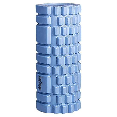 EasyChange フォームローラー 筋膜リリース グリッドフォームローラー ヨガポール (ブルー)