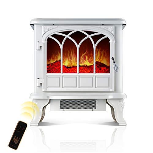 Poêle électrique télécommandé- Effet de Flamme Log Log LED à économie d'énergie-2 foyers électriques à Flamme Simulation Chambre à la Maison (1000w / 2000w)