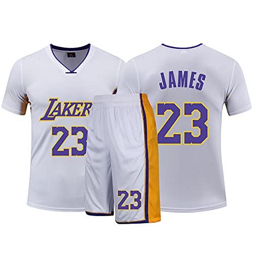 LGLE LeBron James Los Angeles Lakers 23#, uniforme de baloncesto para entrenamiento, ropa deportiva de verano, unisex, blanco, XS