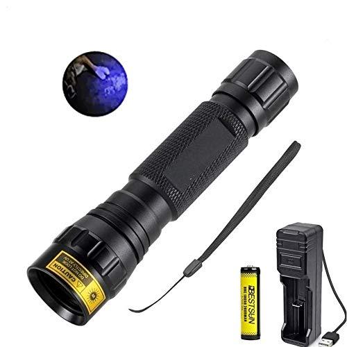 Torcia UV da 5W 365nm, torcia a LED a luce ultravioletta Torce professionali a luce nera per polimerizzazione di colla UV, rilevatore di perdite AC, scorpioni, fotografia, valuta, diamante, giada