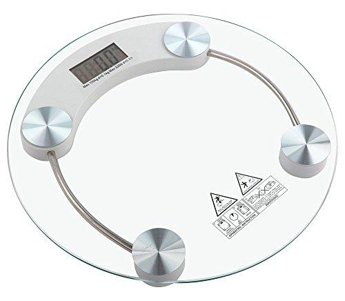 Tempo di Saldi 8050705800483 BIL150 Digitale Personenwaage, elektronisch, aus Glas, 150 kg