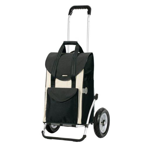 Andersen Einkaufstrolley Royal mit kugelgelagertem Luftrad 25 cm und Einkaufstasche Senta weiß 49 Liter