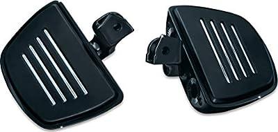 Kuryakyn 7564 Motorcycle Foot Control Component: Premium Mini Board Floorboards with Comfort Drop Mounts for 2001-17 Honda Motorcycles, Gloss Black, 1 Pair