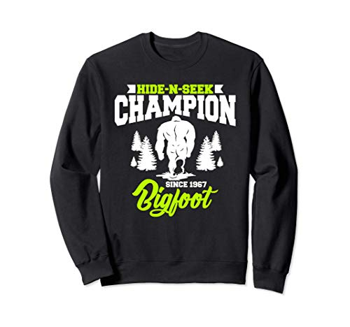 Cute & Funny Bigfoot Hide-N-Seek Champion Since 1967 Sudadera