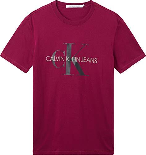 Calvin Klein Jeans Seasonal Monogram Tee 2 T-Shirt, Chiodo di Garofano Scuro/CK Nero, M Uomo