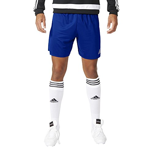 adidas Męskie szorty. Parma 16 szorty, męskie niebieski niebieski (Bold Blue/White) S