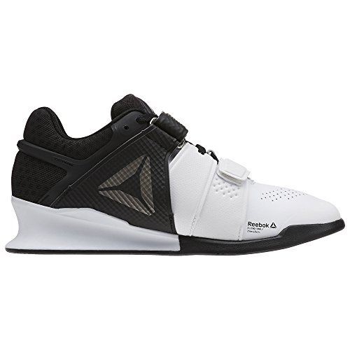 Reebok Women's Legacylifter Sneaker, White/Black/Pewter, 6 M US
