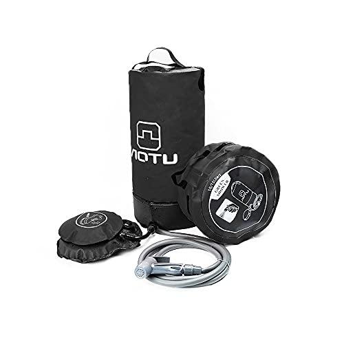 Ajing Bolsa de ducha para camping, bolsa de ducha con energía solar, 3 galones, plegable, portátil, útil bolsa de almacenamiento de agua, para viajes al aire libre, senderismo, playa, natación, PVC