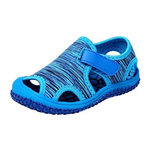 YWLINK Sandalias De Verano para NiñOs Estampado De Camuflaje A Rayas Sandalias Deportivas De Punta Casual Zapatillas De Playa Antideslizantes Ahuecar Transpirable Zapatos De Agujero
