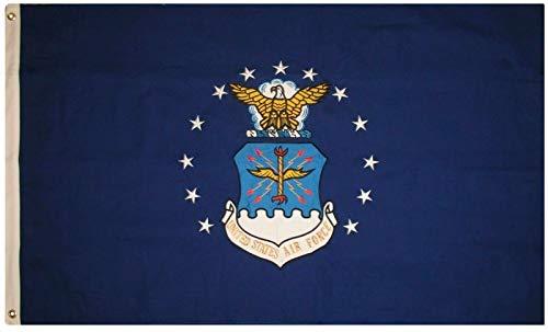 Air Force Drapeau –-0,9 x 1,5 m – Double face – brodée United commence Air Force Drapeau –-– USAF par Www.wildflags.com