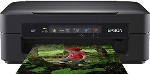 Epson Expression Home XP-255 3-in-1 Tintenstrahl-Multifunktionsgerät Drucker (Scanner, Kopierer, WiFi, Einzelpatronen, 4 Farben, DIN A4, Amazon Dash Replenishment-fähig) schwarz