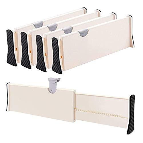 Gxklmg 4 Paquete Organizador y divisores de cajones expandibles, separadores Ajustables de 10.94 a 17.12 Pulgadas para el hogar y la Oficina