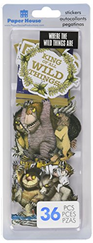 Paper House Self-Adhesive Die-Cuts 36/Pkg-Where The Wild Things Are