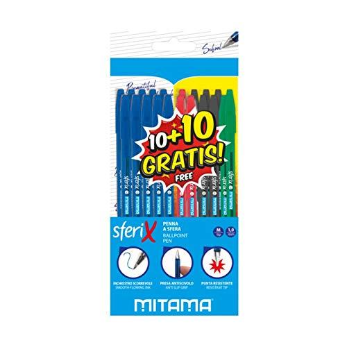 Mitama 62563-20 penne a sfera Sferix, confezione da 15