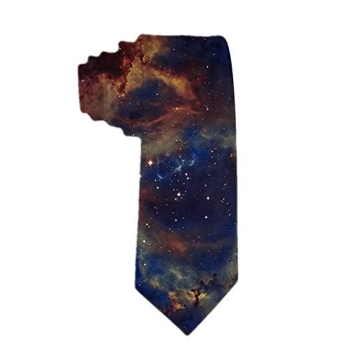 Corbata de poliéster para hombre La estrella más brillante en el cielo nocturno Corbatas de jacquard para hombre Regalo novedoso