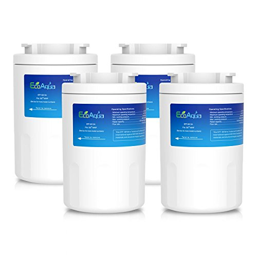 EcoAqua Compatible GE MWF Nevera Filtro - Los Paquetes de 1, 2, 3 o 4 (4)