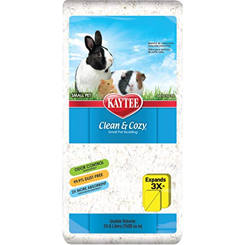 Kaytee 894626 Clean & Cozy Streu für kleine Haustiere / Nager / Hamster, 99.9 % staubfrei, Geruchskontrolle - 24.6 Liter, weiß