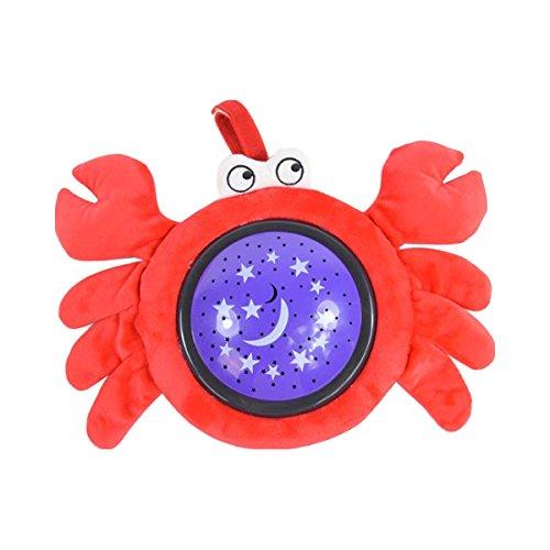 Kuscheltier-Leuchte Krabbe Kinder Nachtlicht Schlaflicht Sternenhimmel Lampe