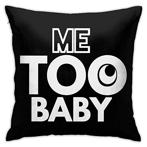 DONGSHAN Me Too B - Funda de almohada cuadrada decorativa para sofá, coche, hogar, 45,7 x 18 pulgadas