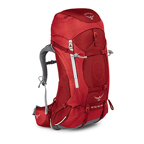 Osprey Damen Ariel AG 55 Backpacking Pack, Picante Red, WM