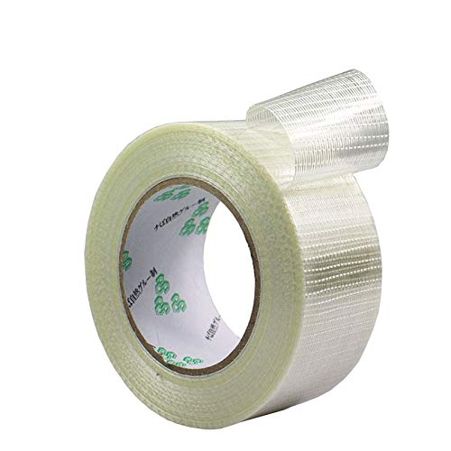 GUOJIAYI 25M/roll transparent Glass Fiber mesh Tape Strapping Packaging Mold Home Appliance Strapping Fixing Tape