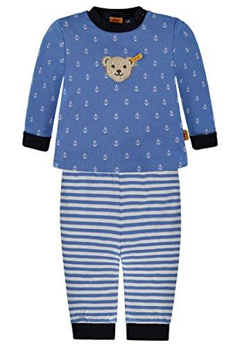 Steiff Collection Jungen Zweiteiliger 2Tlg. Schlafanzug 6836245, Blau (Marina 3056), 80