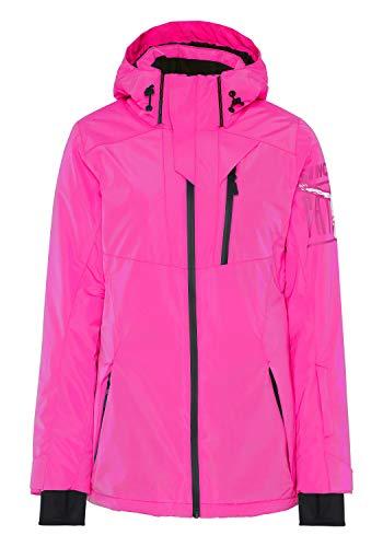 Chiemsee Skijacke mit Skipasstasche am Unterarm S Pink Glo