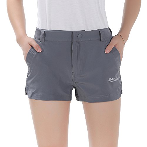 Makino Women's Lightweight Hiking Shorts Casual Quick Dry Outdoor Gear For Girls Short Trousers Gray S