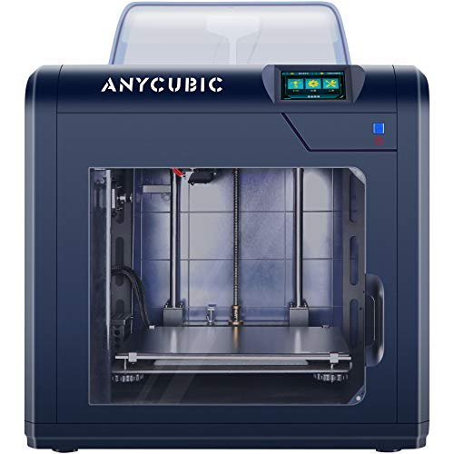 ANYCUBIC 3D Printer, 4Max Pro Upgraded Metal PEEK 3D Printer, Fully Enclosed, TFT Touchscreen, Ultra-Silent For Beginners