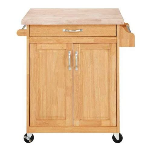 Amazon Com Mainstays Kitchen Island Cart Natural This Stylish