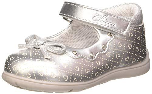 Chicco Ballerina Gangy, Bailarinas para Niñas, Plateado (Argento 020), 23 EU