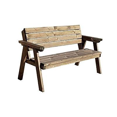 CONSILIUM 7 FT Rustic Wooden Garden Bench Brown