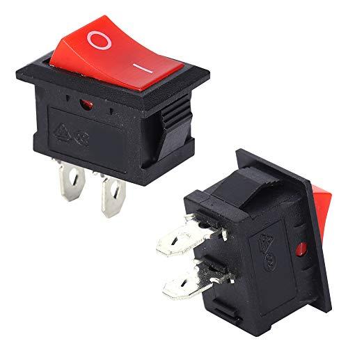 Interruptor de 2 posiciones, resistencia a la corrosión Interruptor de 2 clavijas, plástico 101 Equipo eléctrico Hogar para equipos industriales domésticos
