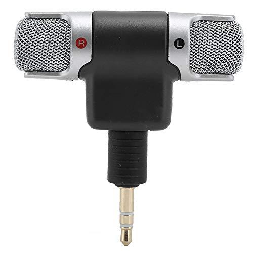 logozoe Drahtloses Mikrofon, 3,5-mm-Klinken-ABS-Mini-Stereomikrofon für Mobiltelefon-Tablet(4 Poles)