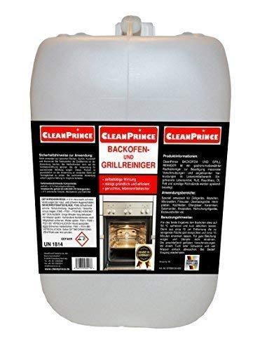 CleanPrince 5 Liter Kanister Backofenreiniger und Grillreiniger Konzentrat Fett Öl eingebrannte Lebensmittel Ofen reinigen Reiniger Backofen Herd Reiniger Backblechreiniger Ofenreiniger Kanister