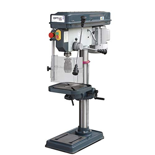 Optimum Tischbohrmaschine OPTIdrill B 20 (400 V) (Keilriemenantrieb, Bohrtisch neigbar und drehbar), 3008203SET