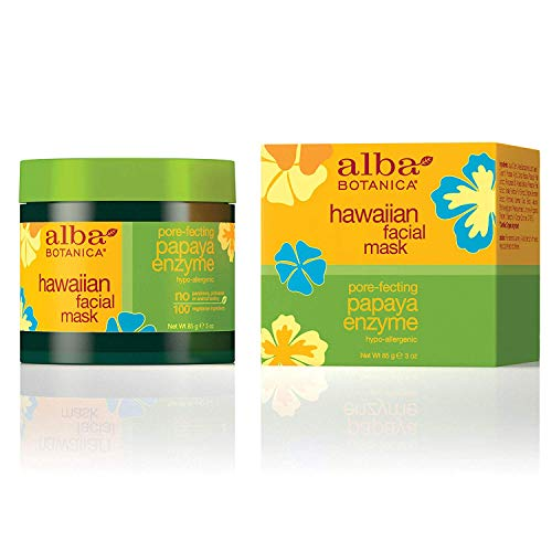 Alba Botanica Pore-Fecting Papaya Enzyme Hawaiian Facial Mask, 3 oz.