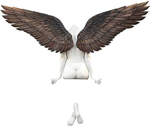 MFFACAI Kunst Engel Figur Engel Skulptur Wanddekor 3D Statue für Wohnzimmer Schlafzimmer Wohnkultur Engel Flügel Ikarus Hatte Eine Schwester (Size : 50 * 30cm)