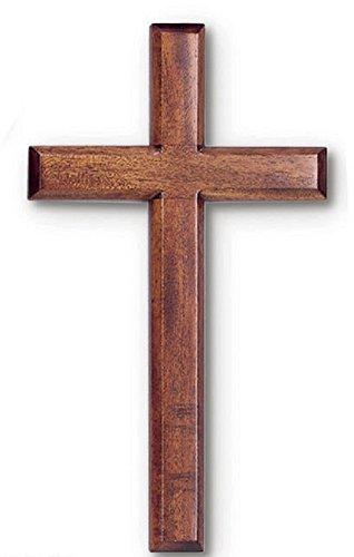 Solid Mahogany Wood Wall Cross (6')