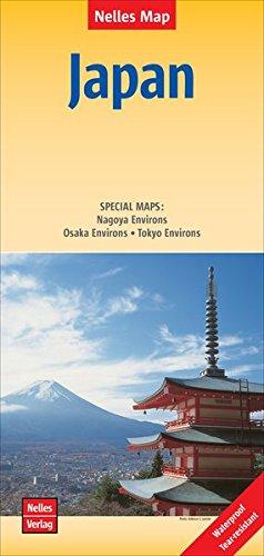 Nelles Map Japan 1 : 1 500 000: SPECIAL MAPS: Nagoya Environs - Osaka Environs - Tokyo Environs