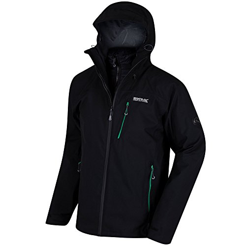 Regatta Wentwood II Parka 3 en 1 Homme Black/Black FR: XL (Taille Fabricant: XL)
