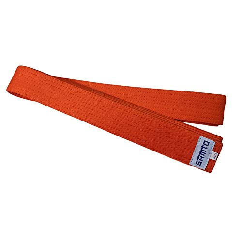 SAMTO Cinturón Infantil Judo, Karate, Taekwondo y Otras Artes Marciales (Naranja)