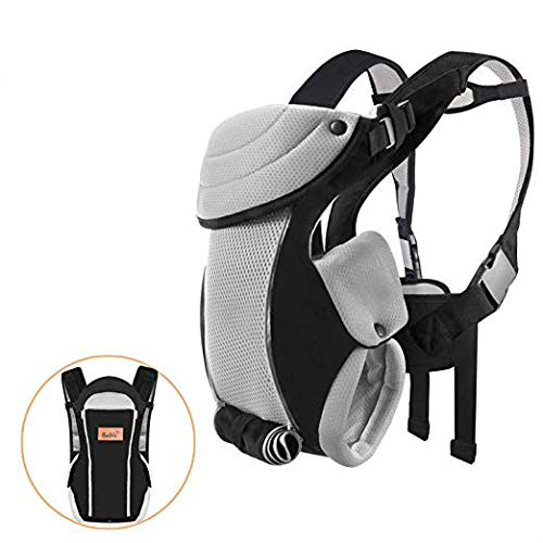 Baby Carrier for Newborn to 1-Year-Old (8-20 lbs), Bable Breathable Soft Newborn Carrier with Vents for Hiking Traveling Flying, Comfortable for All Seasons, Shower Gift for Baby Boys or Girls, Black