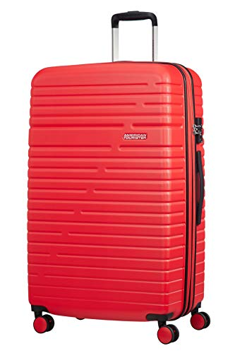 American Tourister Aero Racer Spinner 79 Expandable - 4.6 Kg Bagaglio a Mano 115 Liters, Rosso (Poppy Red)