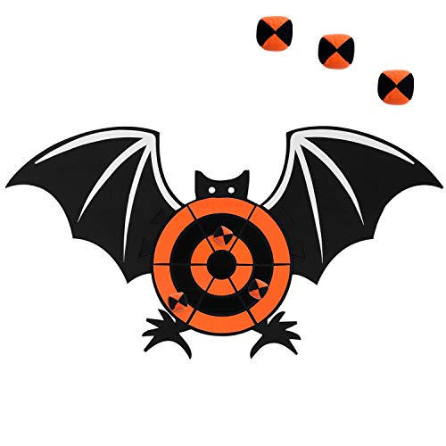 Aneco Halloween Bat Dart Board Sticky Balls Toys Games Spliceable Dart Board Kit for Halloween Toy Games, 1 Dart Board and 6 Balls