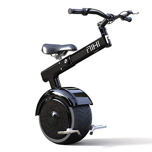 GJZhuan 800W Elektrisches Gleichgewicht Einrad-Motorrad, for Erwachsene Faltbare Monowheel Elektrischen Einrad Mit Sitzbremse/Somatosensorischen Kontrolle, 67.2V, 264WH, 22kg Wiegen (Size : 25km)